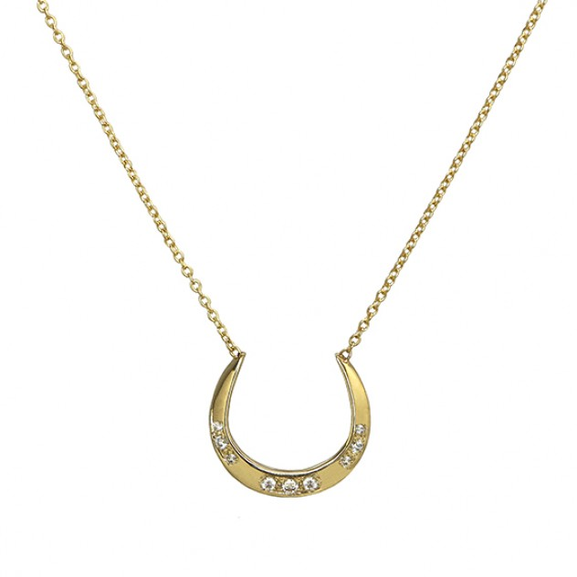 arc diamond necklace