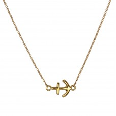 aubrey anchor necklace