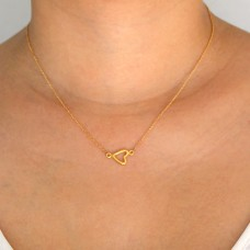 aubrey heart necklace