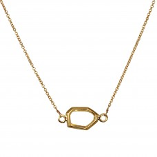 aubrey hexagon necklace