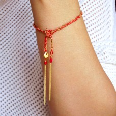 camille bracelet - red