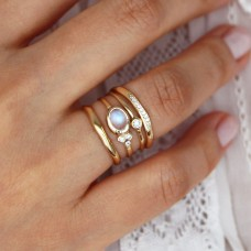 celine wide diamond ring
