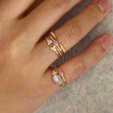celine pink sapphire ring