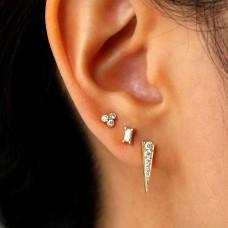 clover diamond studs