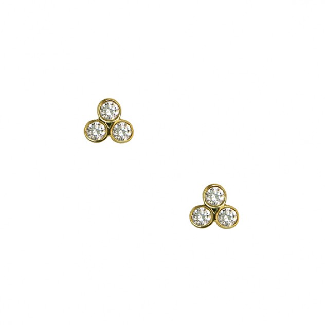 clover grande diamond earrings