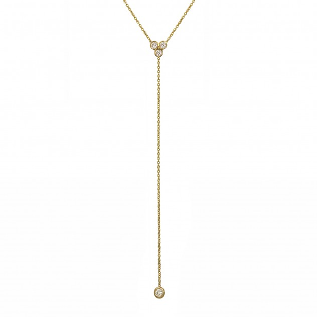 clover diamond lariat necklace