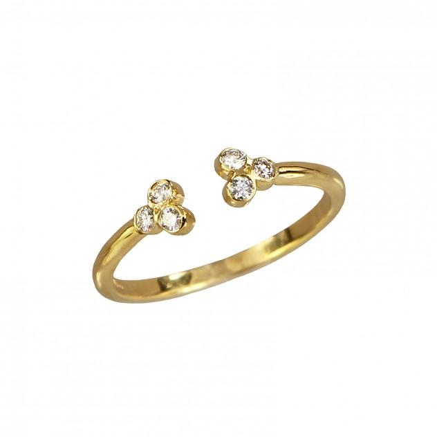 clover diamond ring