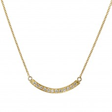 demilune diamond necklace