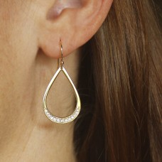 droplet diamond earrings