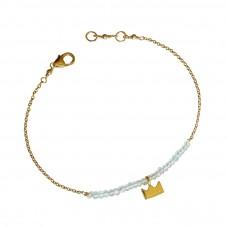 erin aquamarine bracelet