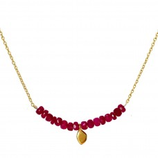 erin pink ruby necklace