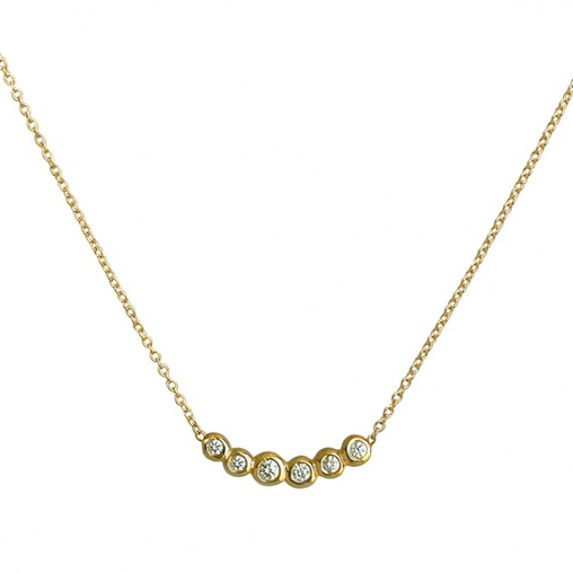 happy life petite diamond necklace