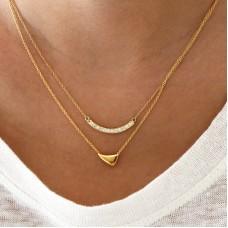 demilune diamond necklace