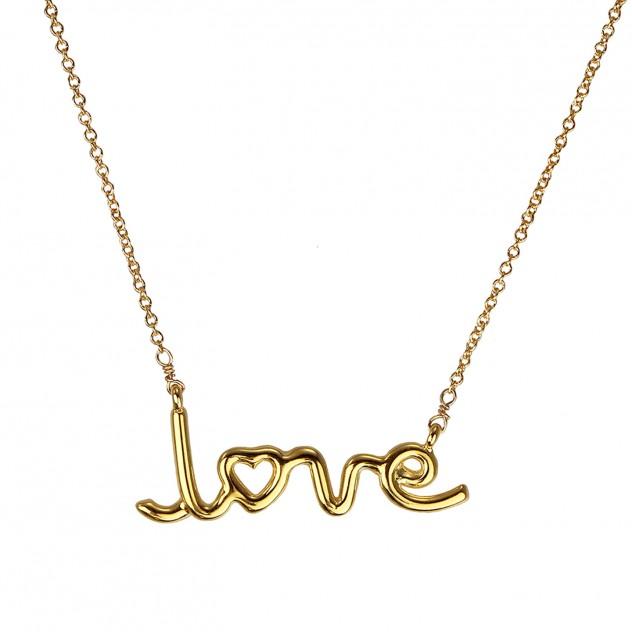 "jamie ""love"" necklace"