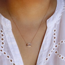 jubilee pink rose necklace
