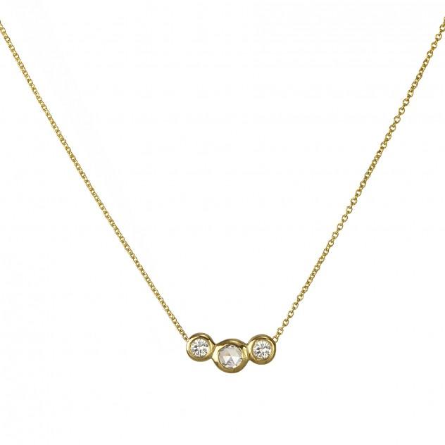 la vie diamond necklace