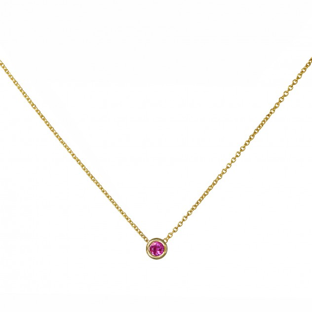 lagoon pink sapphire necklace