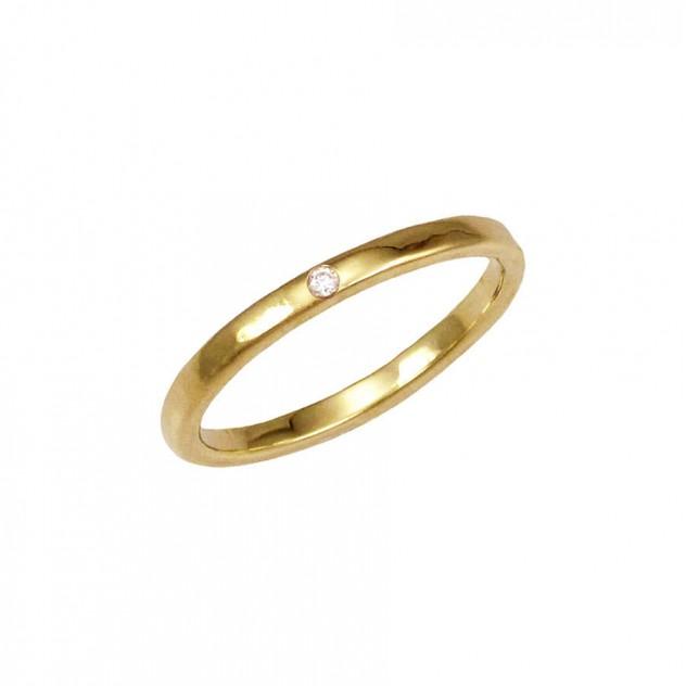 leslie thin diamond ring