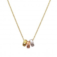 leslie triple multi necklace
