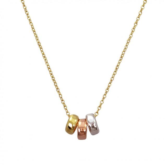 leslie triple multi necklace
