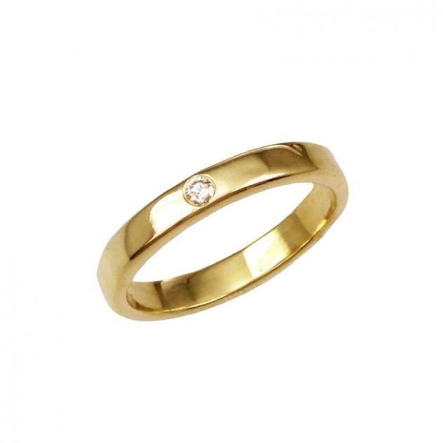 leslie wide diamond ring