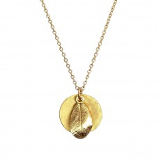 olivia leaf necklace