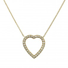 open heart grande necklace