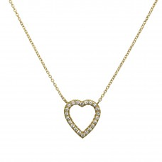 open heart petite necklace