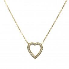 open heart petite necklace