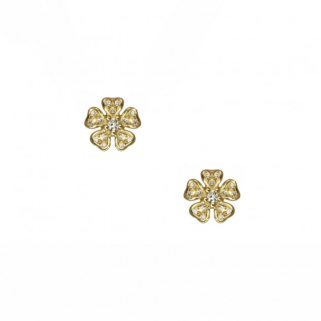pansy diamond earrings
