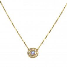 pebble moonstone necklace