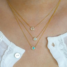 pebble opal necklace