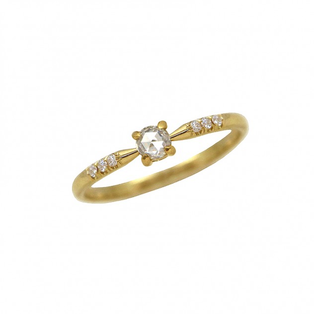 princess rosecut diamond ring