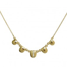 quintet diamond necklace