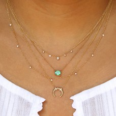 sprinkle diamond necklace