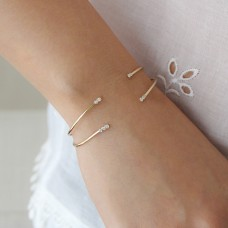 stardust double diamond cuff