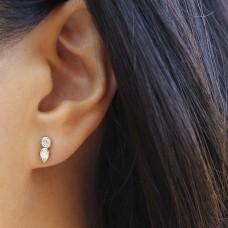 stepping stone diamond earrings