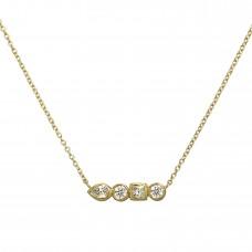 stepping stones diamond necklace