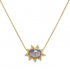 sunburst purple necklace