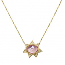 sunburst pink necklace
