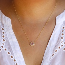 sunburst pink necklace