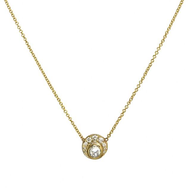 sunrise diamond necklace