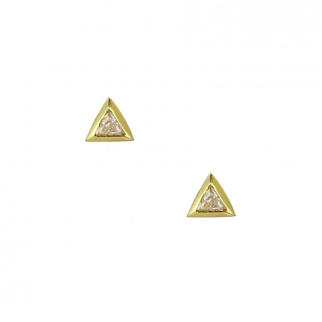 trillion diamond studs