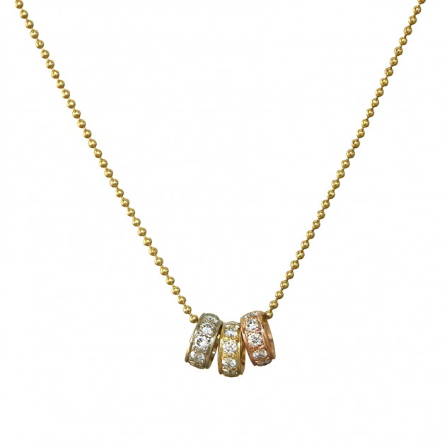 trilogy diamond necklace